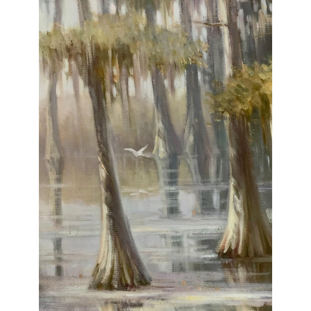 2010s Louisiana Swamp Oil Painting For Sale - Image 5 of 8