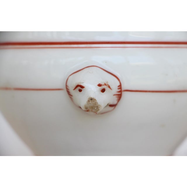 Ceramic 1900s Antique Victorian Vase Depicting Dog Heads on the Handles For Sale - Image 7 of 13
