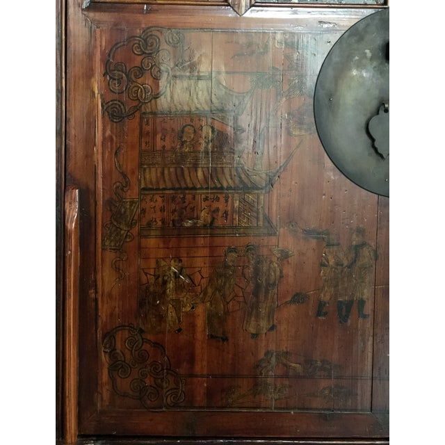 Antique Asian Wedding Cabinet For Sale - Image 9 of 12