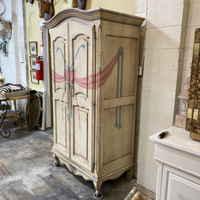 French Custom Hand Made French Armoire For Sale - Image 3 of 13