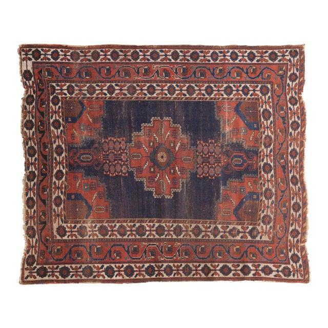"""Antique Fine Afshar Rug - 4'3"""" x 5'2"""" - Image 1 of 13"""
