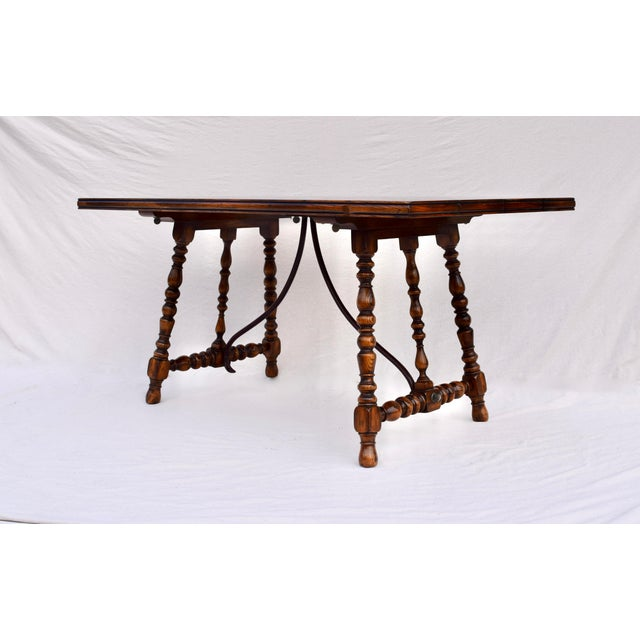 ABC Carpet & Home Spanish Colonial Style Dining Table by ABC Carpet & Home Center For Sale - Image 4 of 9