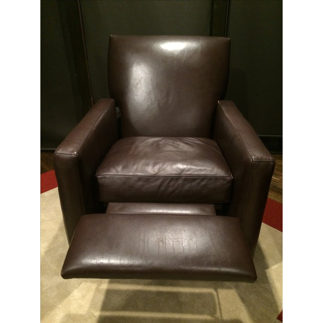 Crate and Barrel Leather Recliner - Image 3 of 3