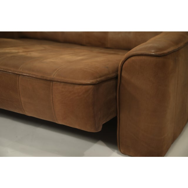 De Sede Aged Buffalo Leather Ds-44 Adjustable Loveseat Sofa, 1970s For Sale - Image 12 of 13