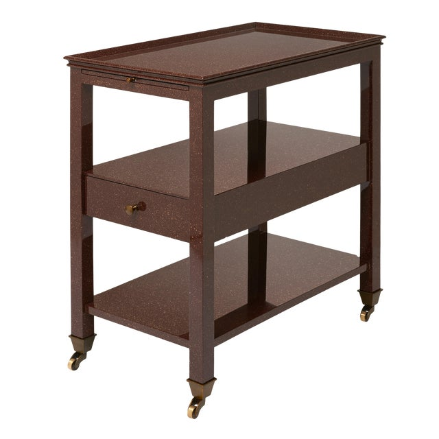 Practical Nightstand in Porphyry - Miles Redd for The Lacquer Company For Sale In New York - Image 6 of 6