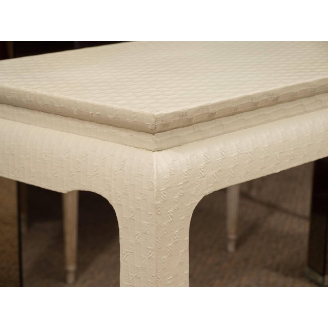 1970s White Lacquered Console Table For Sale - Image 5 of 10