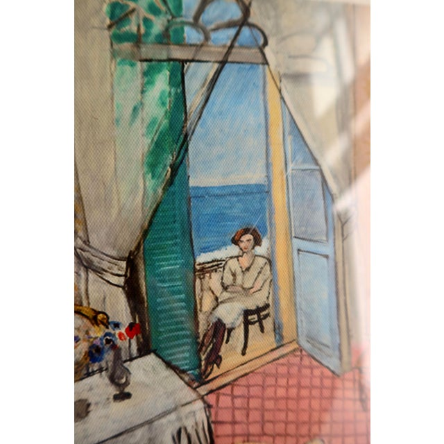 Henri Matisse Interior at Nice by Matisse - Rinoarts Production Print For Sale - Image 4 of 7