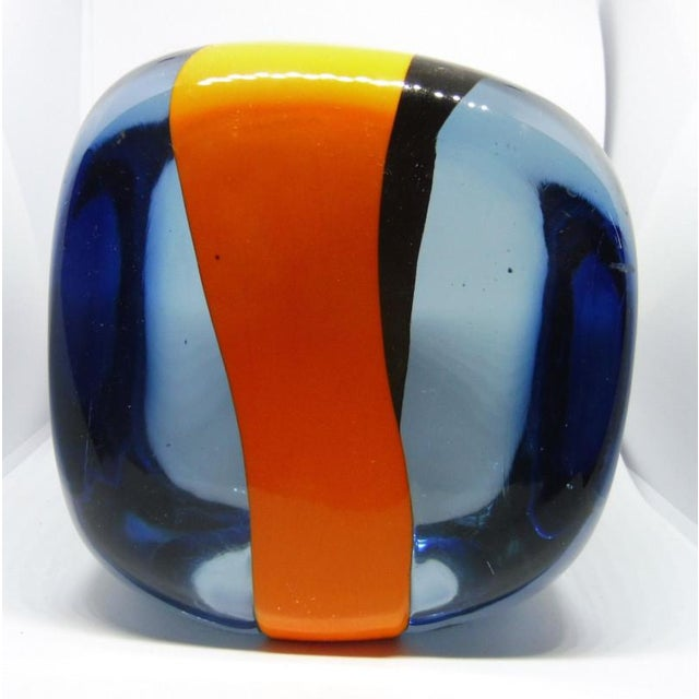 1970s 1970s Vintage Pierre Cardin for Venini Murano Glass Paperweight For Sale - Image 5 of 10
