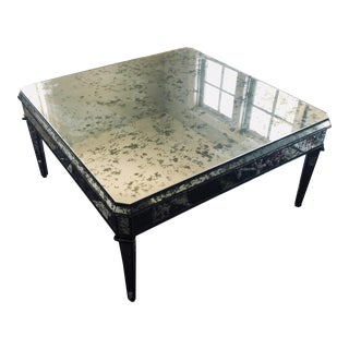 Antique Mirror Top Square Coffee Table For Sale