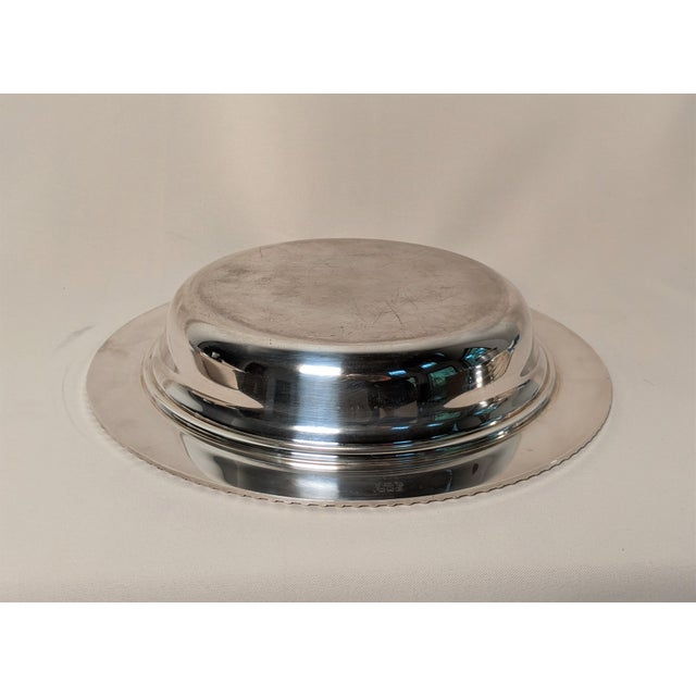 Epc 1940s Silver Plate Serving Dish For Sale - Image 10 of 13