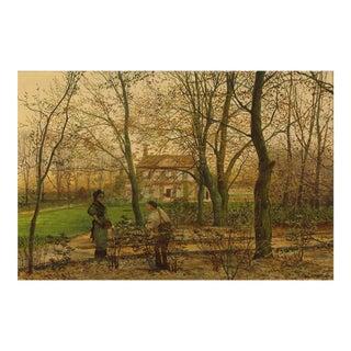 Autumn Garden Walk By John Atkinson Grimshaw