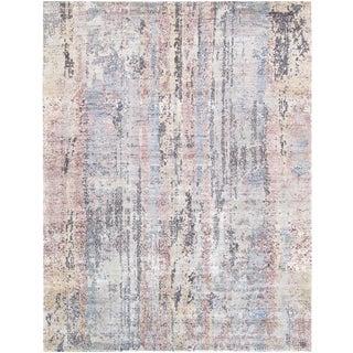 "Pasargad Modern Gemstone Silk & Wool Rug- 9' 2"" X 12' 1"""