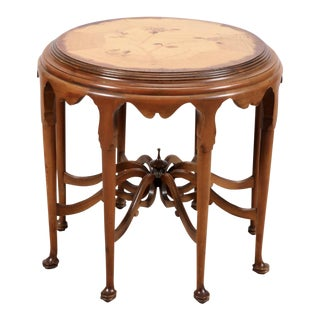 Captivating Traditional Inlaid Occasional Table