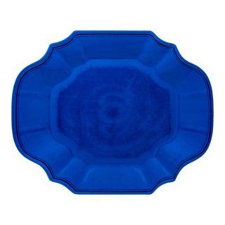 """Terra Dark Blue 16"""" Melamine Oval Platter, Set of 2 For Sale"""