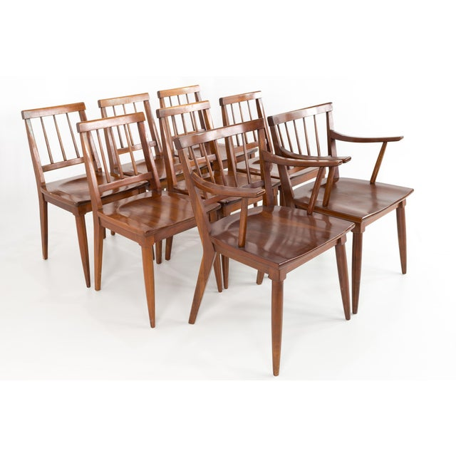 Mid Century Paul McCobb Style Cherry Dining Chairs - Set of 8 For Sale - Image 13 of 13