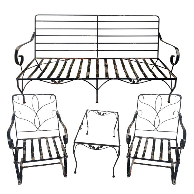Vintage Wrought Iron Outdoor Furniture - Set of 4 - Image 1 of 4
