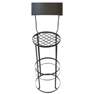 Industrial Woven Iron Bar Stool For Sale