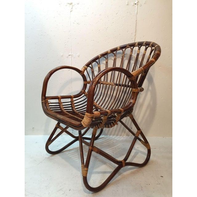 Franco Albini Style Rattan Chair - Image 2 of 7