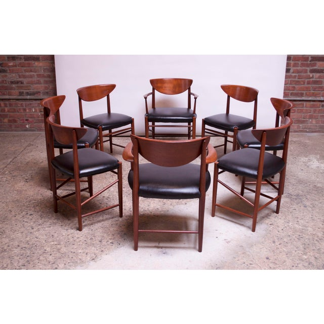 Mid-Century Modern Teak Dining Chairs by Peter Hvidt and Orla Mølgaard Nielsen - Set of 8 For Sale - Image 3 of 13