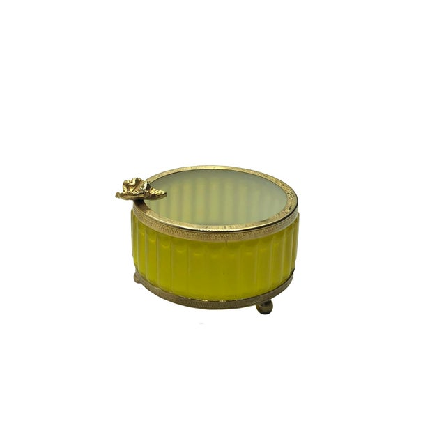 Glass Antique Murano Yellow Ashtray For Sale - Image 7 of 8