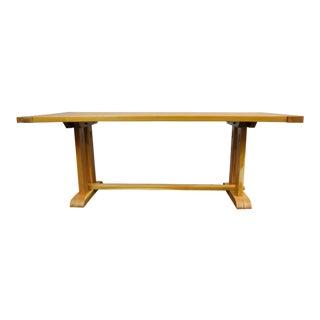 Acacia Trestle Farmhouse Dining Table For Sale