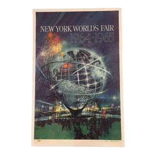 Blue Large Bob Peak Original Worlds Fair Poster For Sale