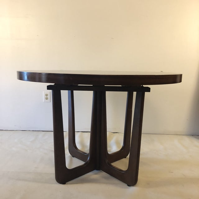 Wood 1960s Danish Modern Walnut Base Dining Table With 2 Leaves For Sale - Image 7 of 13