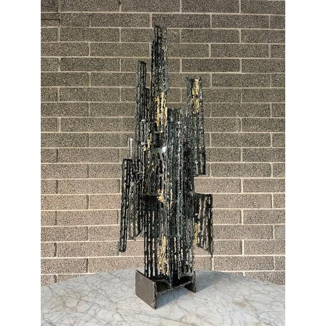 1970s Italian Brutalist Metal Sculpture by Marcello Fantoni For Sale - Image 13 of 13