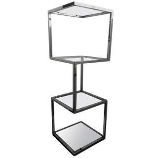 Mid-Century Chrome Etagere or Display Case For Sale