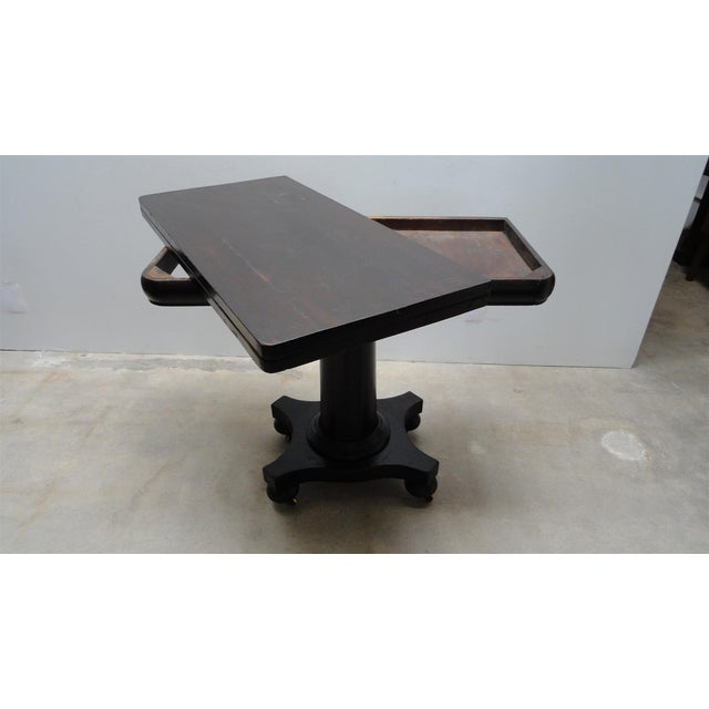 Antique Ebonized Empire Game Table and Console For Sale In Los Angeles - Image 6 of 11