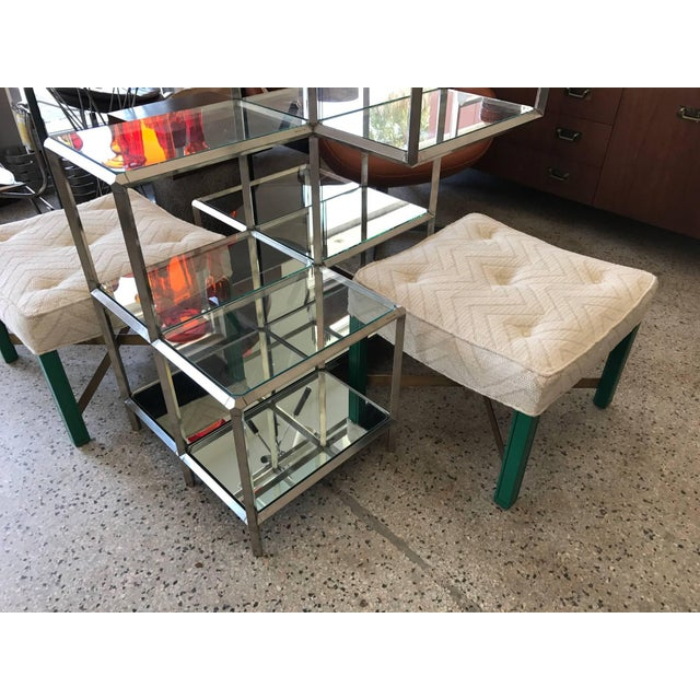 Chrome 1960s Modern Chrome Etagere For Sale - Image 8 of 11