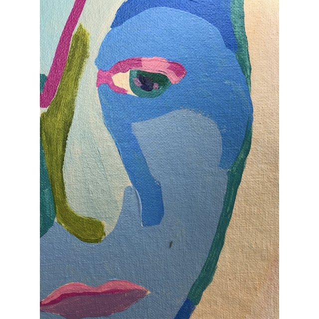 """Contemporary Abstract Portrait Painting """"Here We Go, No. 3"""" For Sale In Detroit - Image 6 of 9"""