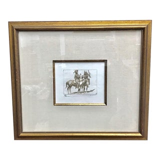 "Early 20th Century Antique Edward Borein ""Sign Talk"" Etching Print For Sale"