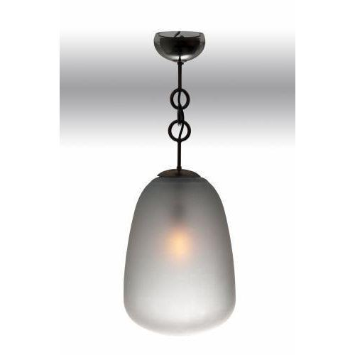 The Matteo Lantern by Seguso for Van den Akker features a hand blown ash finished opaque glass shade and ceiling cup and...