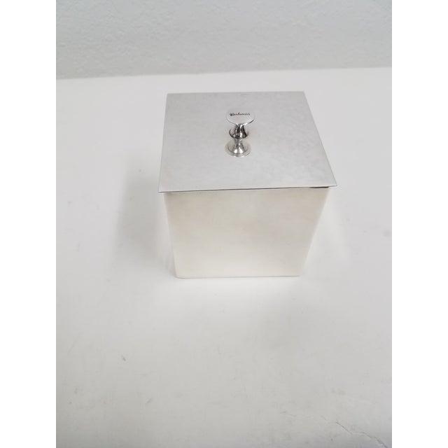 Metal Carluccio Vintage Silverplate Box For Sale - Image 7 of 9