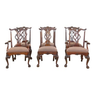 Set of 6 Henredon Rittenhouse Square Mahogany Dining Room Chairs For Sale