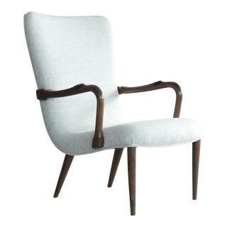 Danish Midcentury Lounge Chair in the Style of Madsen and Schubell