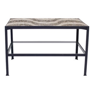 Vintage Terrazzo Top Table With Refinished Base For Sale