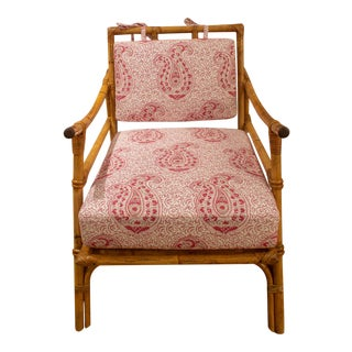1960's French Bamboo Armchair by Maison Jardin For Sale