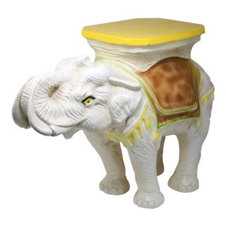 1970s Italian Vintage Elephant Garden Stool Table For Sale