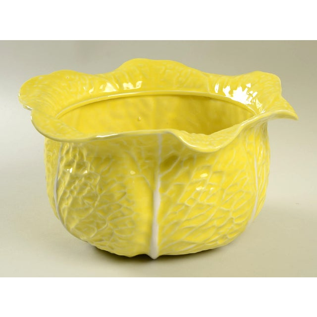 Secla Secla Cabbage-Yellow Tureen For Sale - Image 4 of 11