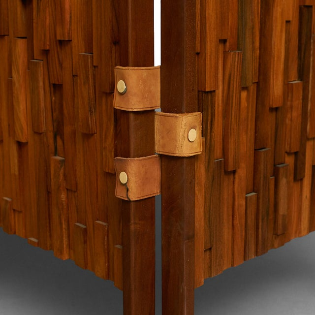 1960s Brazilian rosewood screens in the manner of Percival Lafer - a pair For Sale - Image 5 of 6