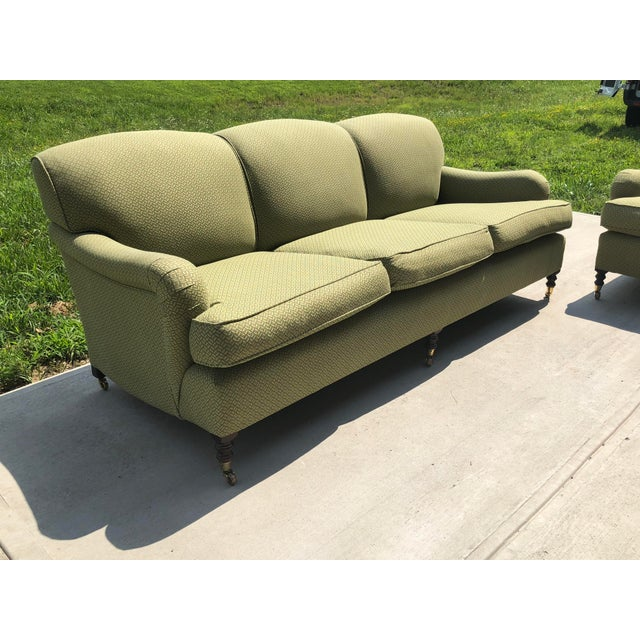 2000s Modern George Smith Standard Roll Arm Sofa For Sale - Image 5 of 7