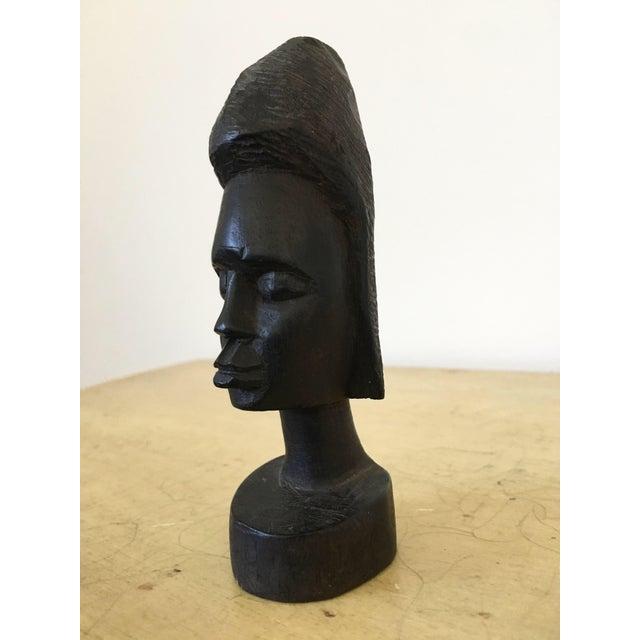 Vintage Tribal Carved Bust - Image 4 of 4