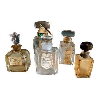 Vintage French Perfume Bottles - Set of 5 For Sale