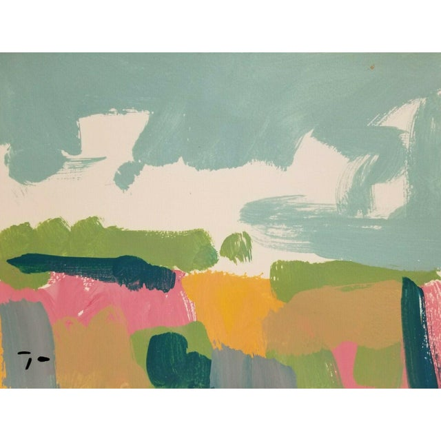Jose Trujillo Original Landscape Acrylic on Paper Painting For Sale