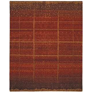 ModernArt - Customizable Starry Night Rug (Red - 8x10) For Sale