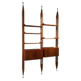 Lb7 Italian Bookcase by Franco Albini for Poggi For Sale