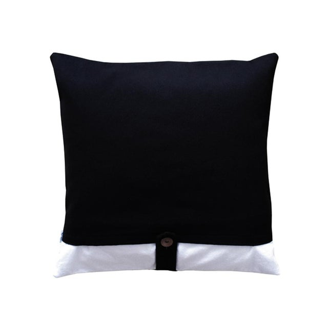 Black & White Geometric Design Throw Pillow Case - Image 2 of 2