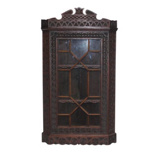 19th C. English Corner Cabinet For Sale